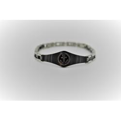 Bracelet Sakì de l'homme d'acier, toujours avec la centrale d'argent et noir