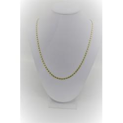 Halskette in 18 kt gelbgold mit mesh flach