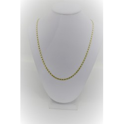 Yellow gold necklace 18 kt with mesh flat