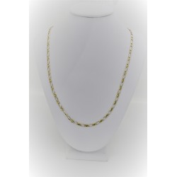 Yellow gold necklace 18 kt with wide mesh