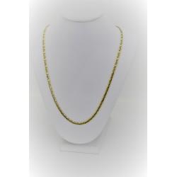 Jaune collier en or 18 kt avec des mailles serrées