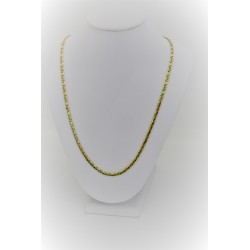 Yellow gold necklace 18 kt with close mesh