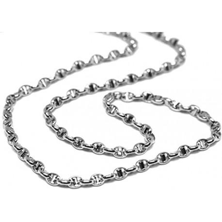 White gold men's chain necklace C1745B