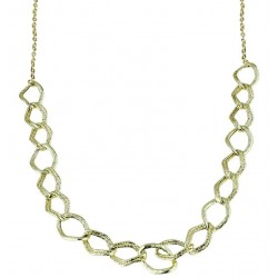 Women's gold necklace with rhomboidal links C1813G