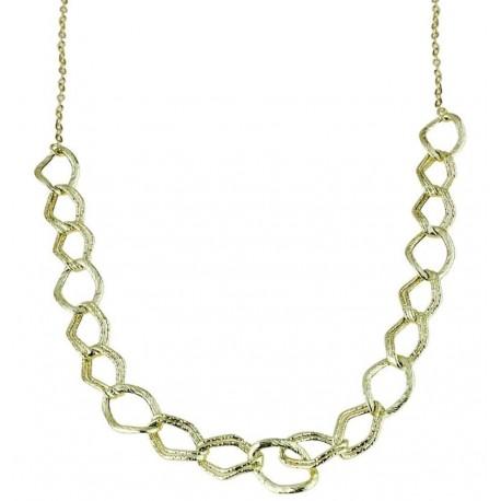 Goldkette für Damen mit rhomboiden Gliedern C1813G