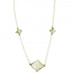 Woman's gold rolo chain necklace C1832BG