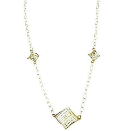 Collier chaîne rolo en or pour femme C1832BG