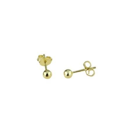 shiny sphere earrings in yellow gold 02000G