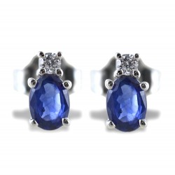 Sapphire and small diamond earrings collection 00359