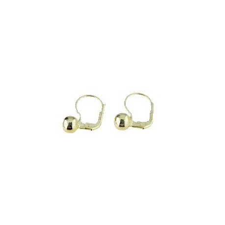 shiny sphere earrings with monachina hook in yellow gold O2004G