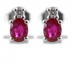 Ruby and small diamond earrings collection 00361