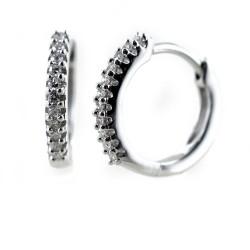 Kleine Creolen mit Diamanten Schmuck 00366