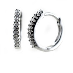 Petites créoles avec diamants Bijoux 00366