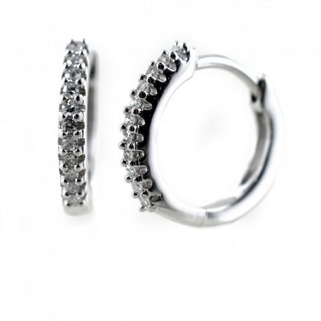 Small hoop earrings with diamonds Jewelery 00366