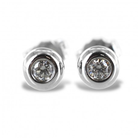 Large Cipollina light point earrings in white gold and diamonds ct. 0.14 G VS 00367