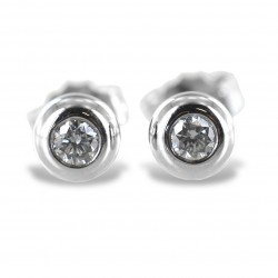 Medium Cipollina light point earrings in white gold and diamonds ct. 0.10 G VS 00369