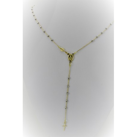 Necklace Rosary White and Yellow