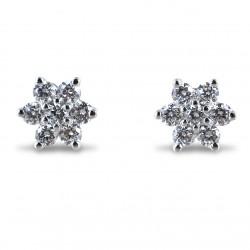 Boucles d'oreilles étoile de diamants Yamir grande collection étoile 00372
