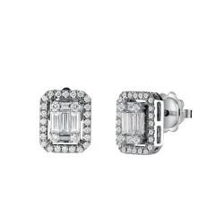 Orecchini Salvini gioielli collezione Magia in oro bianco e diamanti 0.30 ct 00375