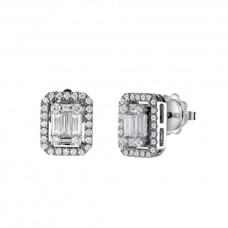 Salvini jewels earrings Magia collection in white gold and diamonds 0.30 ct 00375