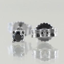 Orecchini Punto Luce medi in oro e diamanti neri 00384