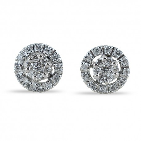 Point light effect earrings with diamond contour 0.34 carat G 00385