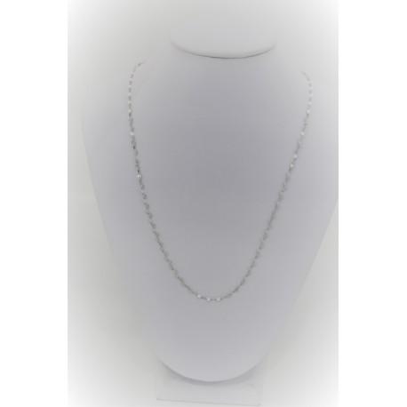 Collana Oro bianco Laminata