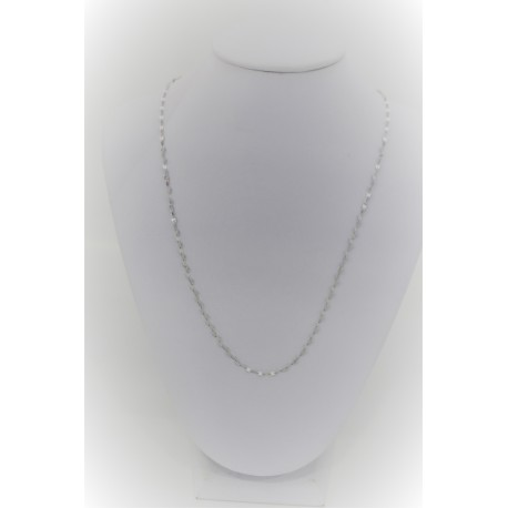 Necklace in white Gold Laminated