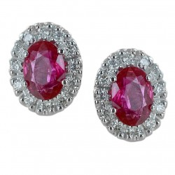 Earrings with Rubies and Diamonds outline - large model 00395