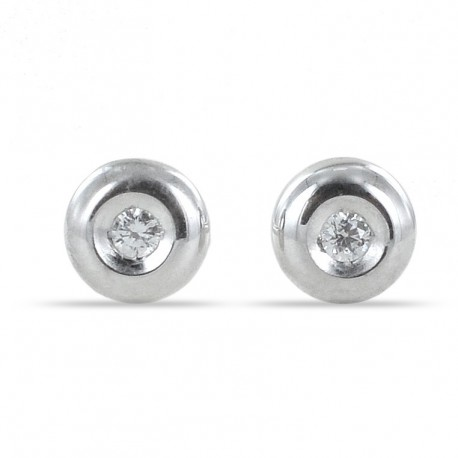 Small Cipollina light point earrings in white gold and diamonds ct. 0.03 G VS 00397