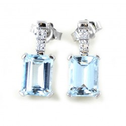 Boucles d'oreilles aigue-marine et diamant - 2,77 carats 00412