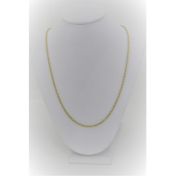 Necklace unisex yellow gold 18 kt with mesh roll