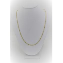 Унисекс ожерелье желтого золота 18 kt с сетки скрутил