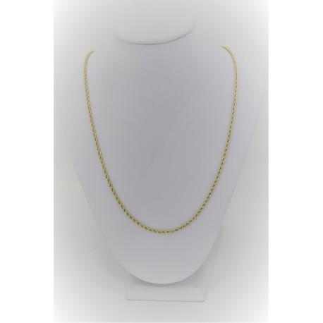Halskette Masche Gedreht, Gold