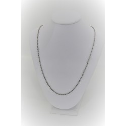Halskette-unisex-weiß-gold 18 kt mit mesh rolle