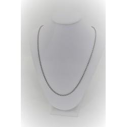 Ожерелье унисекс 18-каратного белого золота с сетки скрутил