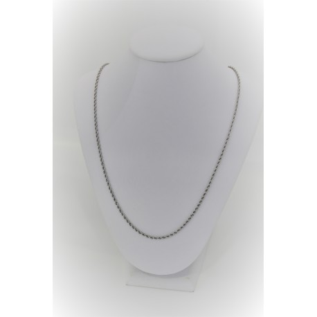 Collier Maille Rouleau Blanc