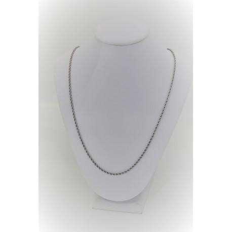 Halskette Masche Gedreht, Weiß