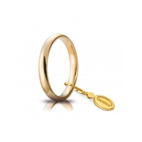 Fede nuziale comoda 3 mm oro giallo UNOAERRE