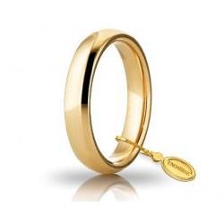 comfortable wedding band unoaerre 4 mm