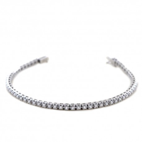 Tennis bracelet in gold and diamonds ct 1.72 G 00417