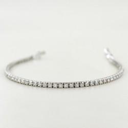 Tennis bracelet in gold and diamonds ct 2.14 color G VS 00418