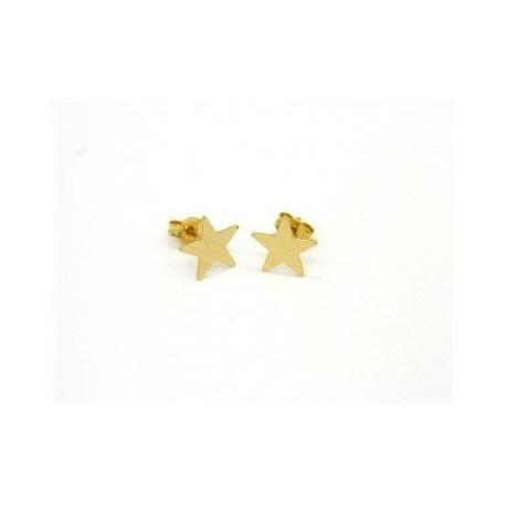 star earrings in yellow gold O3227G