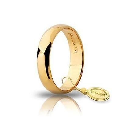 Wedding Ring Unoaerre Classic Wide 4mm 4gr Gold 40 AFN 6