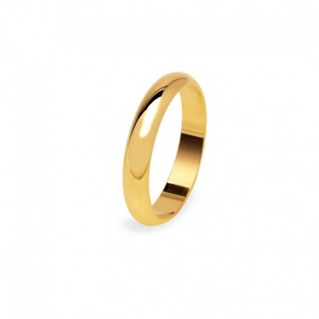 Wedding Ring 5 gr UnoAerre Yellow Gold Wide Band