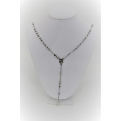 Necklace rosary silver pendant 925