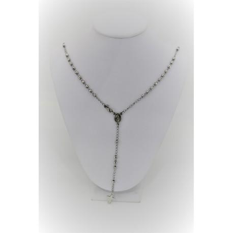 Halskette Rosenkranz Silber