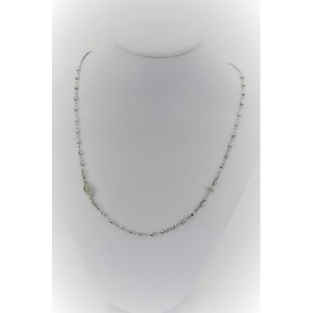 Halskette Rosenkranz Rundhalsausschnitt