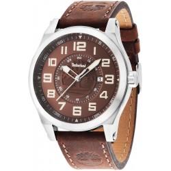 Montre à quartz analogique Timberland pour hommes avec bracelet en cuir TBL14644JS.12