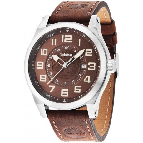 Timberland Men's Analogue Quartz Watch with Leather Strap TBL14644JS.12
